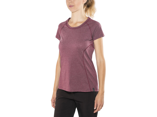 Bergans Cecilie T-shirt Femme, dark cherry melange/bougainvillea